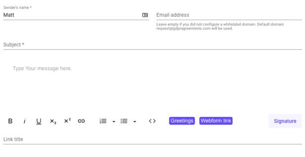 gdpr default confirmation email