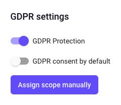 gdpr settings popup
